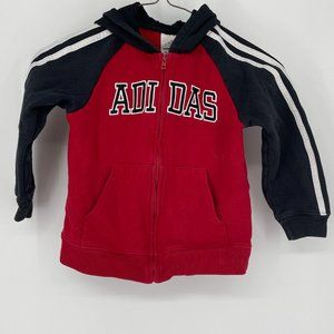 Adidas Red and Black 4T Hoodie